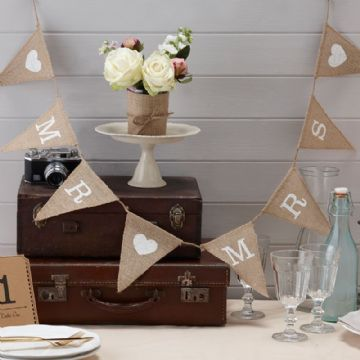 Mr & Mrs Hessian Wedding Bunting